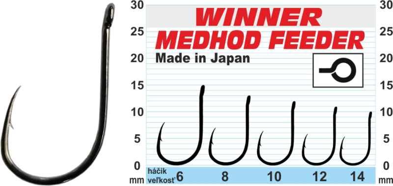 Háčik - Professional Method Feeder MF X5 / 10ks balenie 10ks balenie - MF X5 - veľkosť 6