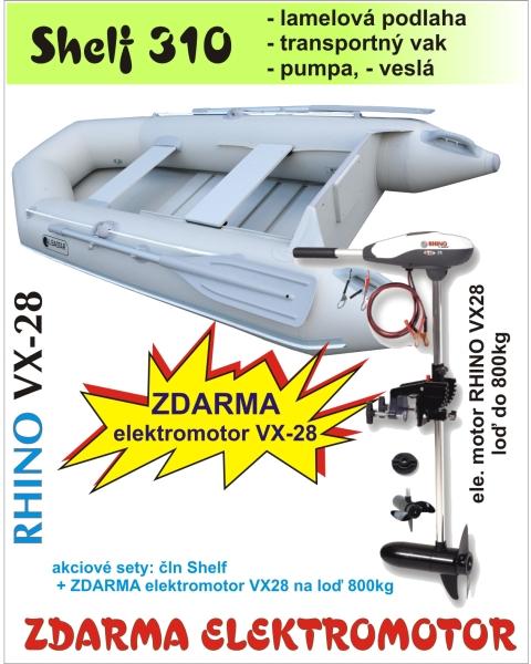 Shelf 310 šedý + Rhino VX 28