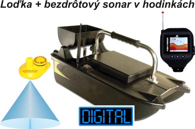 Zavážacia loďka BL a bezdrôtový sonar v hodinkách