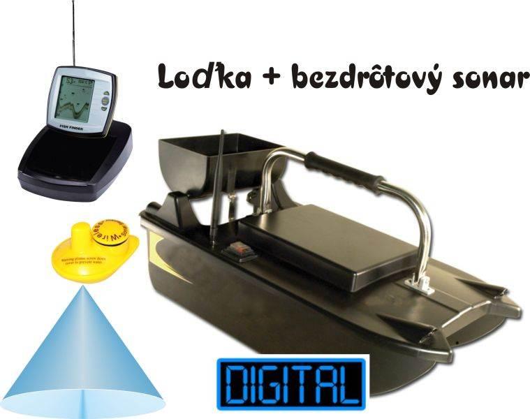 Zavážacia loďka BL s bezdrôtovým sonarom do 60m