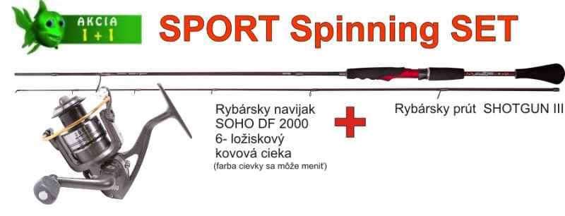 SPORTS Spinning SET 2,40m/25gr + SOHO navijak veľ. 20