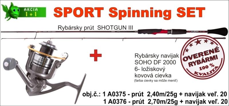 SPORTS Spinning SET 2,70m/25gr + SOHO navijak veľ. 20