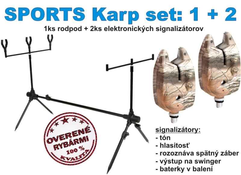SPORTS KARP set 1 + 2 stojan + 2 x signalizátor