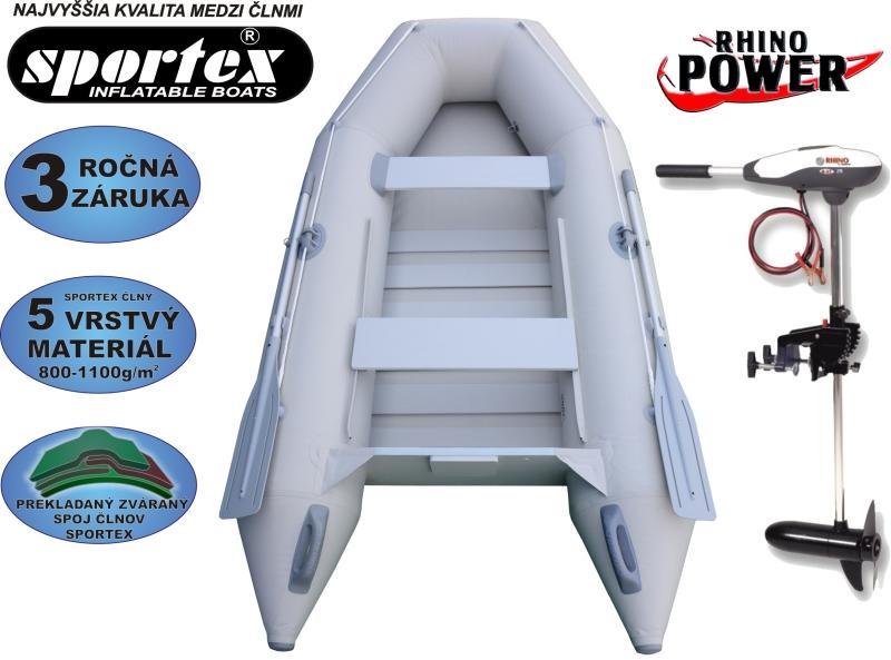 AKCIA čln SPORTEX Shelf 290 + Elektromotor Rhino VX 28
