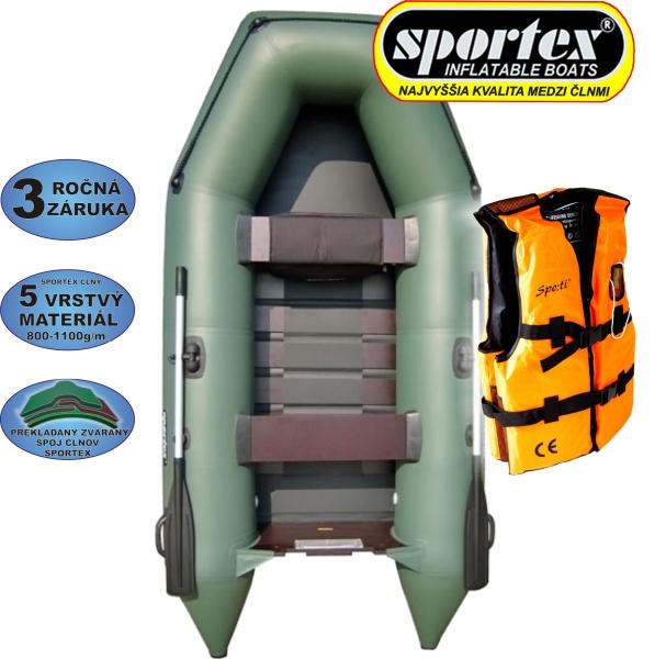 AKCIA - Čln Sportex Shelf + záchranná vesta