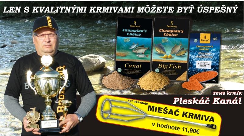Akcia - Zmes krmív na Pleskáča na rýchlo tečúce vody