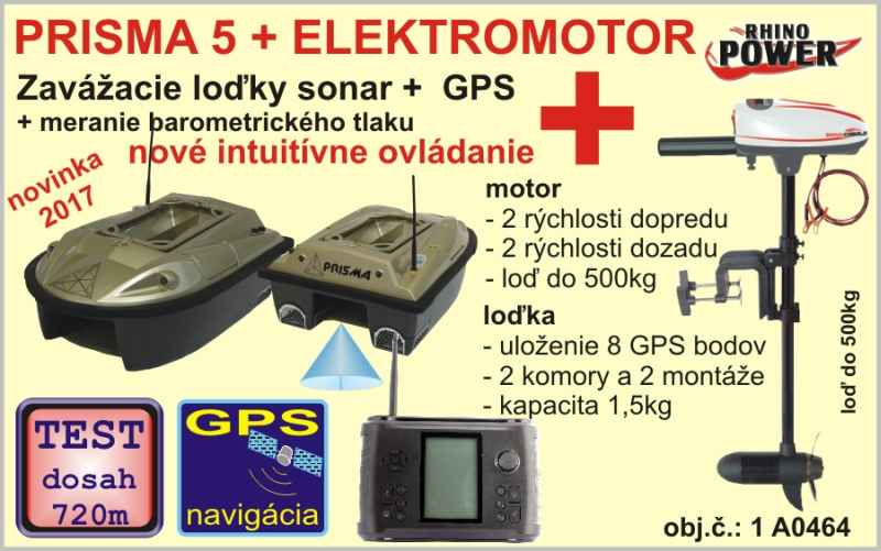 c5784ce3c Zavážacia loďka PRISMA 5 s GPS + elektromotor   Rybárske potreby SPORTS