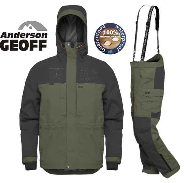 Geoff Anderson BARBARUS - bunda + nohavice - zelená Zeleno-čierna veľkosť 4XL