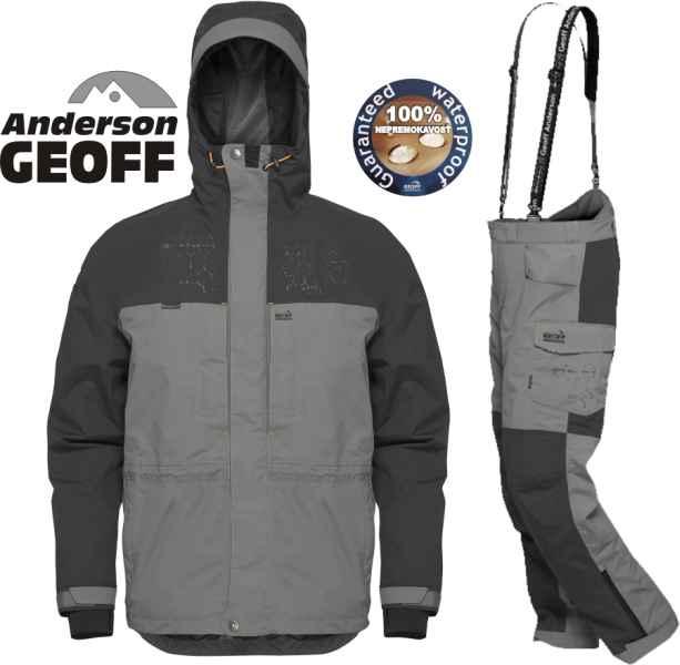 Geoff Anderson BARBARUS - bunda + nohavice - šedá šedo-čierna veľkosť XXXL