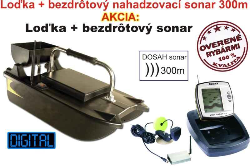 Akciový set - zavážacia loďka a bezdrôtový sonar do 300
