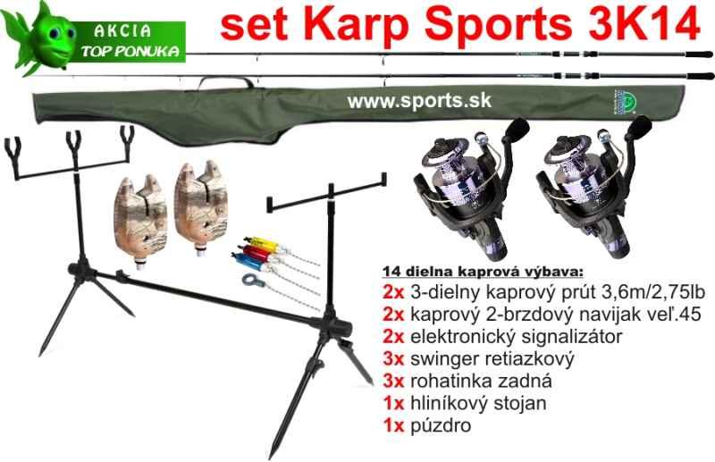 SPORTS 3K14 - Kaprársky 14 dielny set - 3,6m/2,75lbs