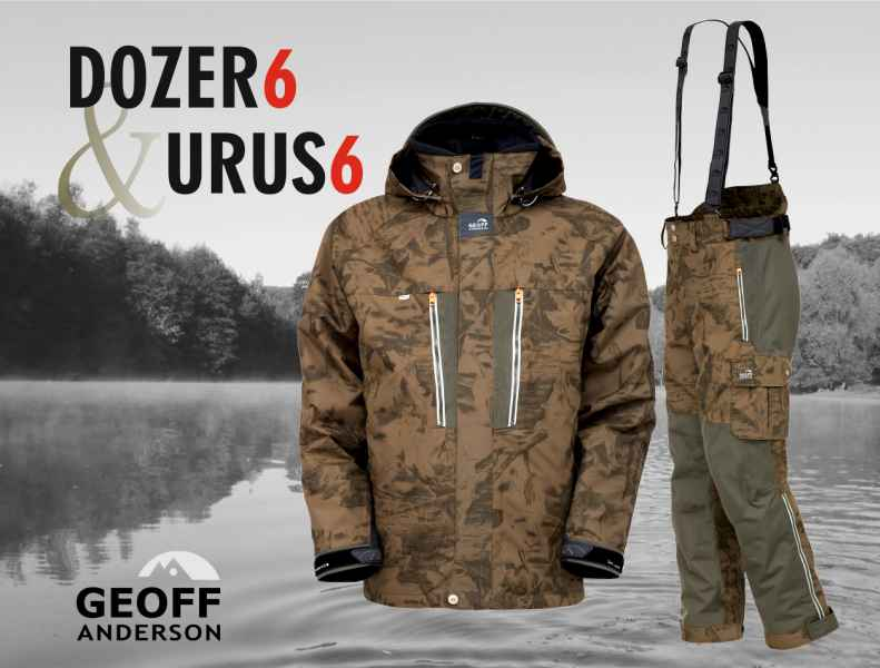 AKCIA Geoff Anderson - DOZER 6 + URUS 6 maskáč Veľkosť L