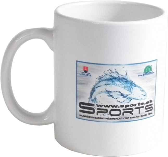Rybársky hrnček s potlačou a logom rybky