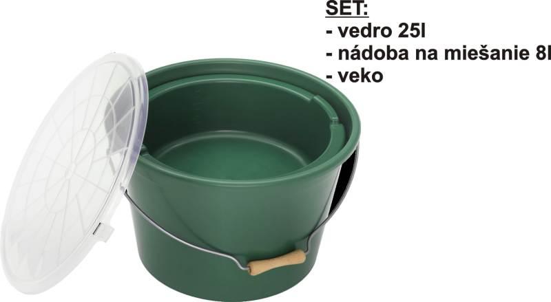 Kompletný SET - Vedro 25l, miska 8l + veko
