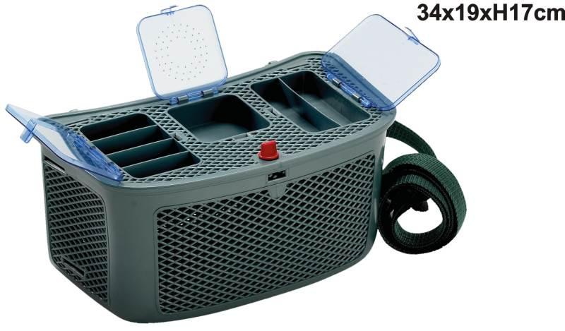 Rybársky košík DE LUXE soft s troma boxami