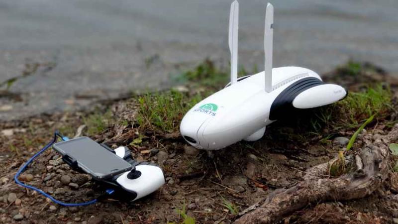 Rybársky plavajúci dron PowerDolphin + GPS sonar kamera