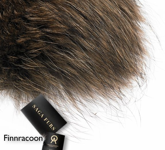 GEOFF kožušina Goosey Fur collar (FinnRaccoon) 56