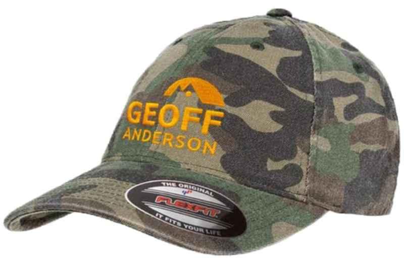 Geoff Anderson šiltovka Flexfit camo s logom