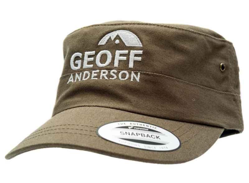 Geoff Anderson šiltovka Snapback s logom zelená