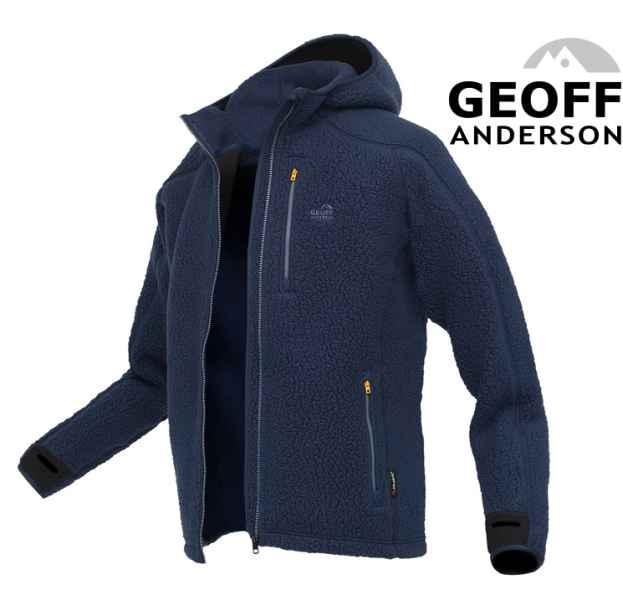 Mikina s kapucňou TEDDY Geoff Anderson - Modrá Veľkosť: XXXL