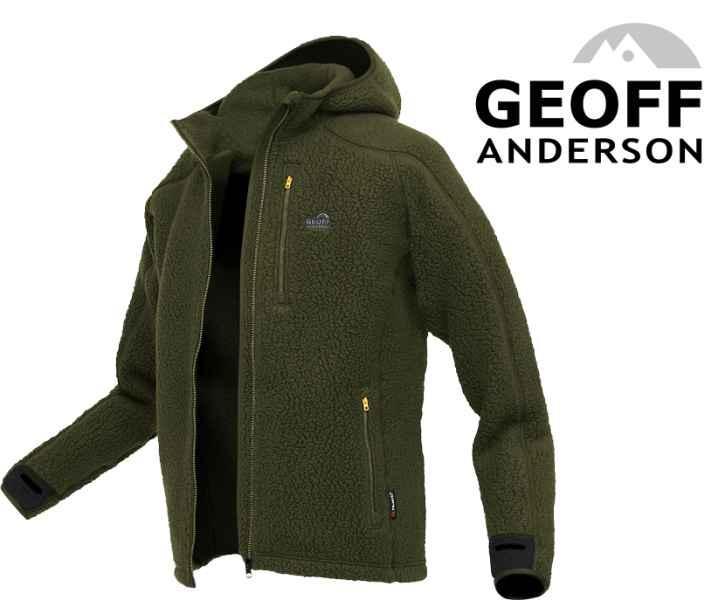 Mikina s kapucňou TEDDY Geoff Anderson - Zelená Veľkosť: XXXL