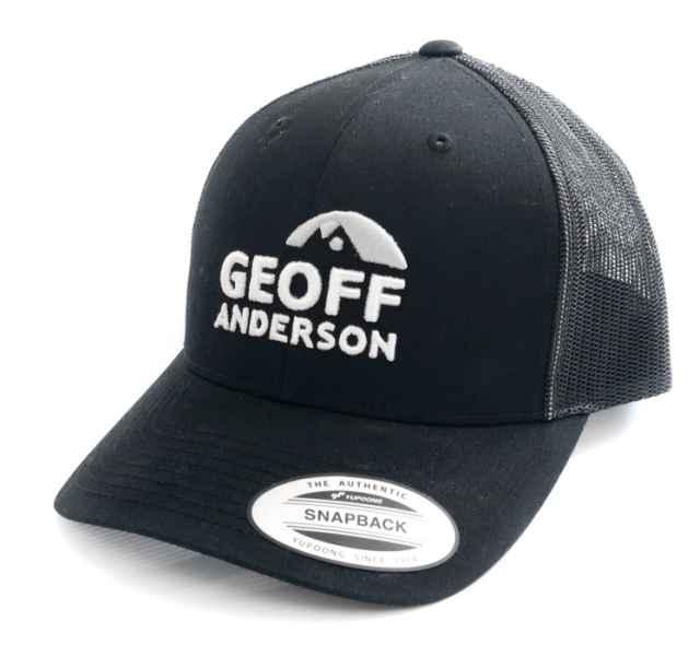 Šiltovka Geoff Anderson SnapBack sieťová s logom čierna