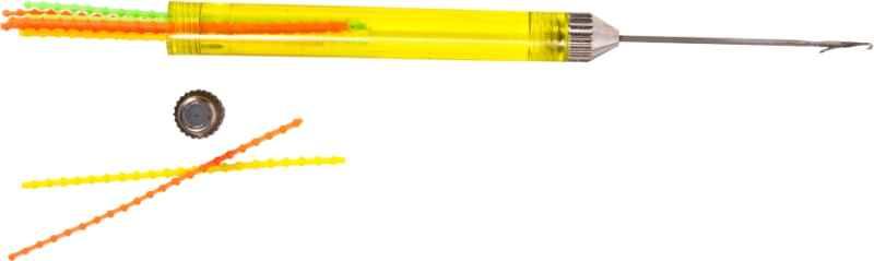 Rybárska Ihla FLUO so záklopkou a zásobníkom zarážok 14cm