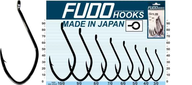 Sumcové háky FUDO Catfish Veľkosť: 8/0 Počet: 4ks