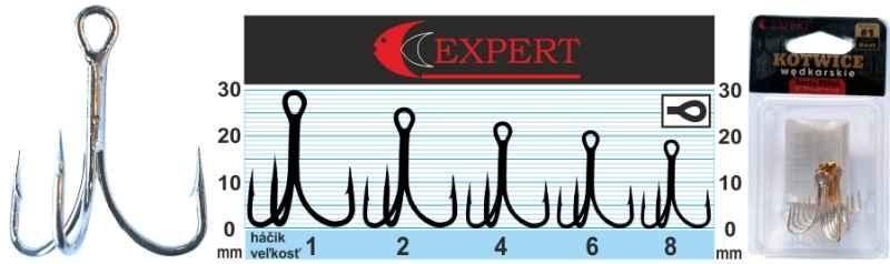 Trojháčik s protihrotom Expert 1215 strieborný Veľkosť: č. 6 Balenie: 6ks