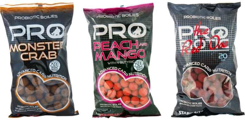 Starbaits Boilies Probiotic 20mm / 1kg Peach / Mango