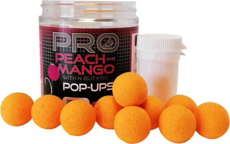 Starbaits POP-UP Fluo 14mm/80g Peach/Mango+dip 25ml