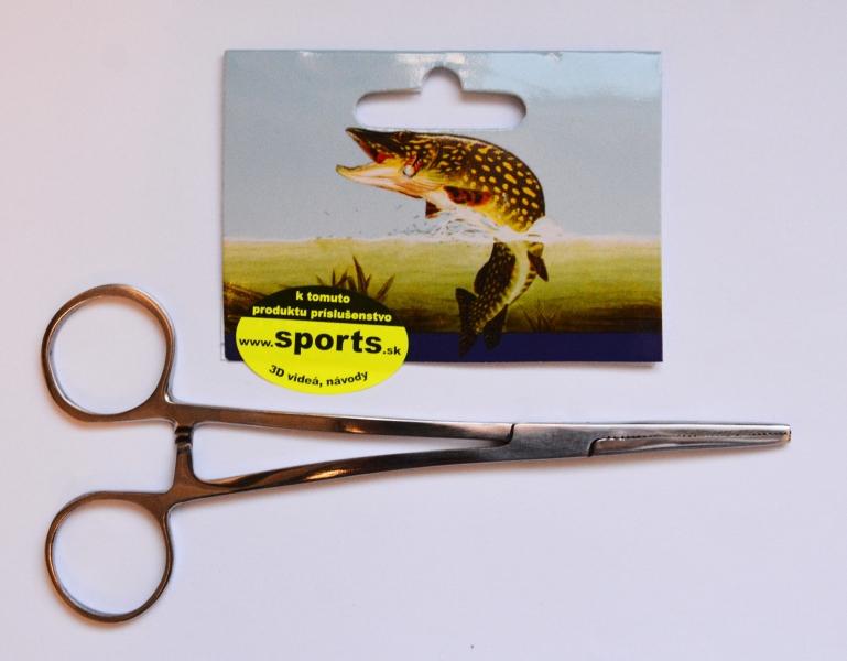 Rybársky kovový pean