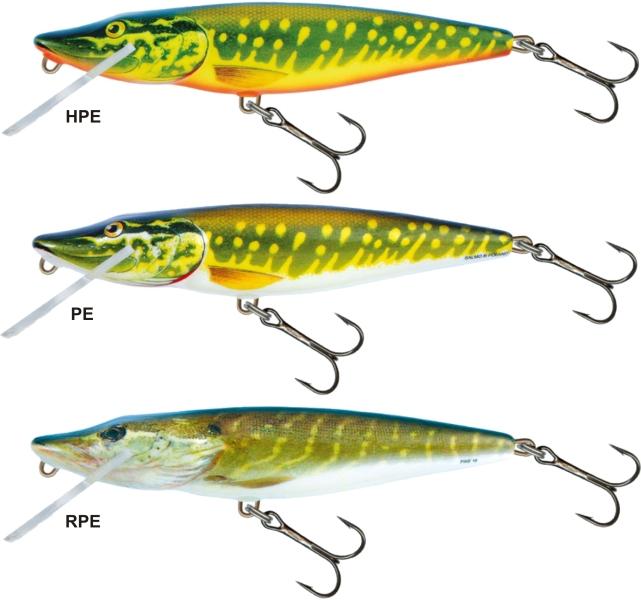 Salmo 2dielny rybarske voblery pike PE13JDR farba RPE