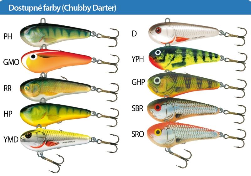 Salmo rybarske voblery chubby darter CD6 farba HP