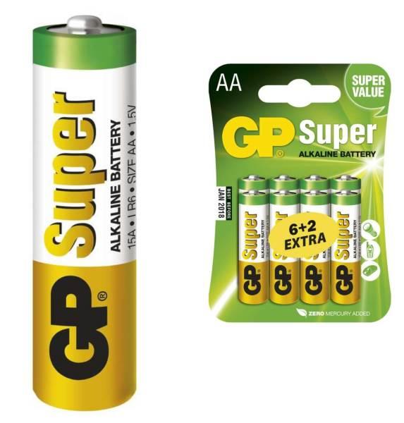 Batéria LR6 GP SUPER AA - 8ks bal/cena za 1ks