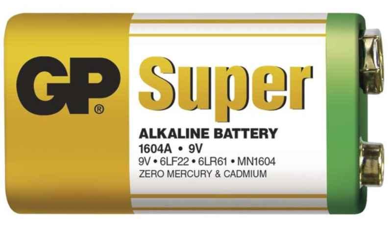 Batéria GP SUPER - Alkalická 9V - 1ks