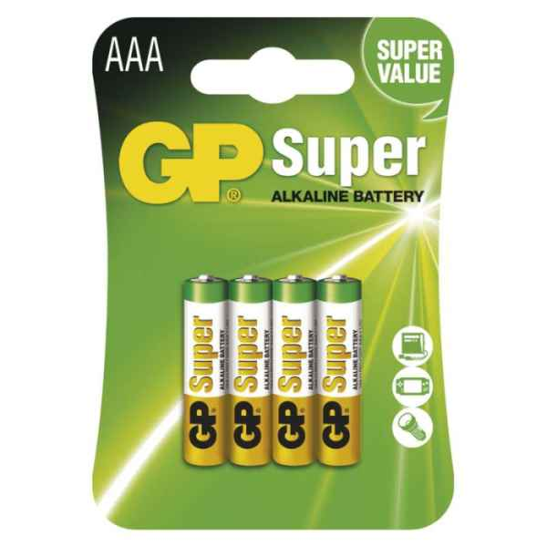 Alkalická batéria GP Super AAA 4ks bal/cena za 1ks