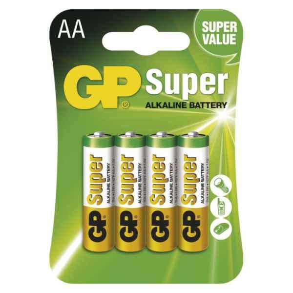 Alkalická batéria GP Super AA 4ks bal/cena za 1ks