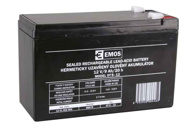 Olovený nabíjateľný akumulátor 12V / 9AH faston 6,3mm