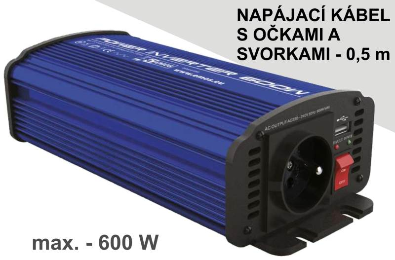 Menič jednosmerného napätia na striedavý prút - 600W