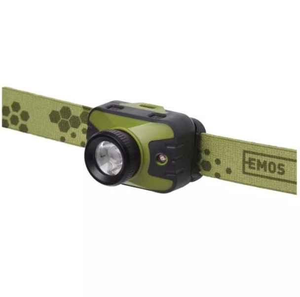 Rybárska CREE LED čelovka svietivosť 330lm 3xAAA