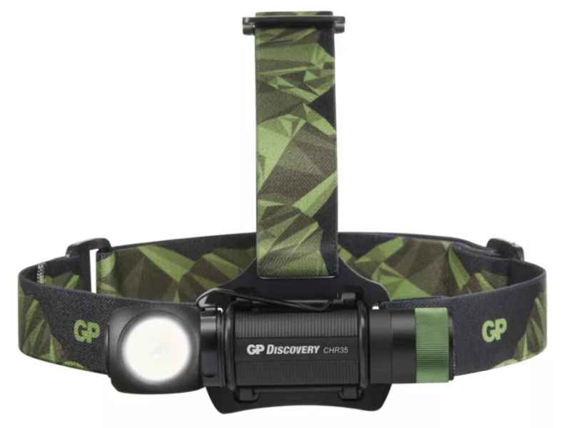 LED nabíjacia čelovka GP Discovery CHR35, 600 lm