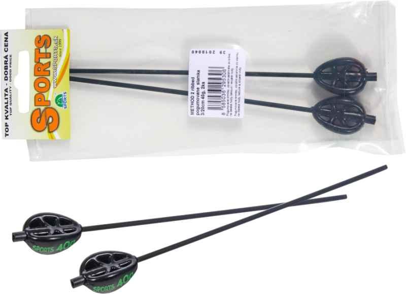 Kaprárska method feeder záťaž - 20cm slamka 2ks Hmotnosť: 100g