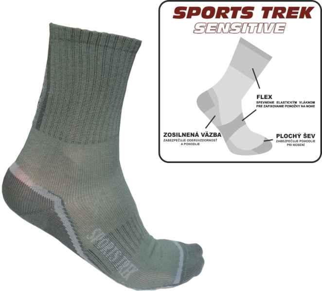 Funkčné ponožky SPORTSTrek Sensitive veľkosť 41-43