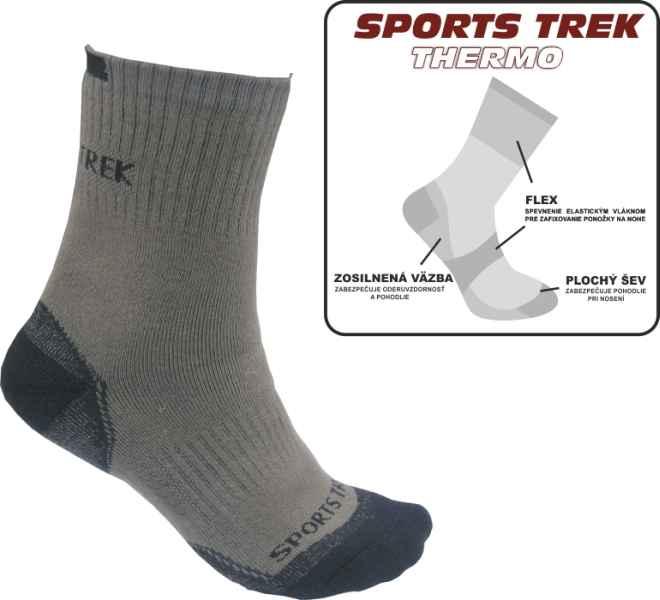 Termo ponožky SPORTSTrek Thermo veľkosť 43-46