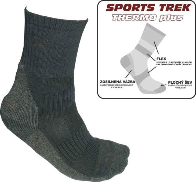 Termo ponožky SPORTSTrek Thermo plus veľkosť 43-46