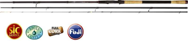 Feeder prúty Black Viper III 3,60m/80g 3-diel light