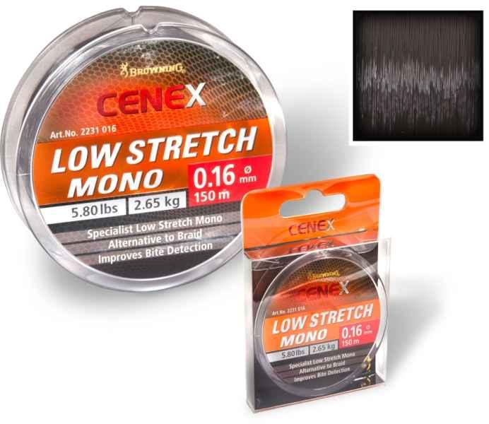 Feeder silon Cenex Low Stretch mono - čierny 150m 0,26mm / 7,15kg