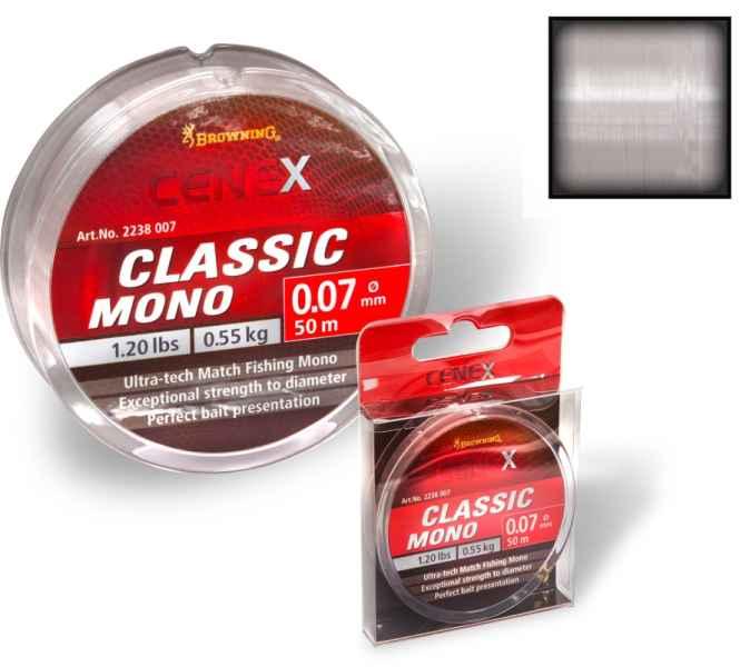 Feeder silon Cenex Classic Mono - priehladný 100m 0,16mm / 2,60kg