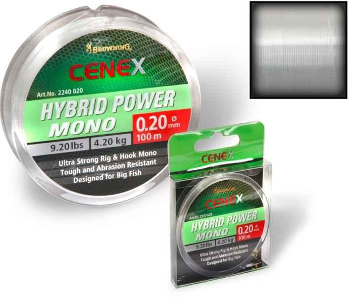 Browning Cenex feeder silon - Hybrid Power Mono 100m priemer 0,20mm